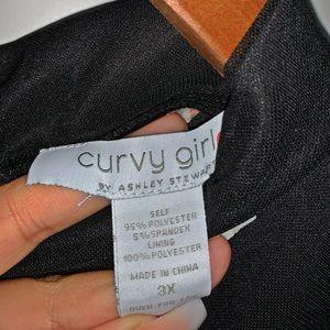 Ashley Stewart Sleeveless Black Sheer/Lined Dress